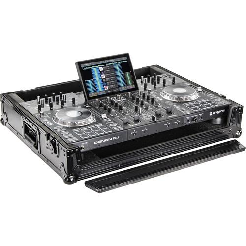 Odyssey Innovative Designs Black Label Series Hard Case for Denon Prime 4 DJ Controller (All Black)