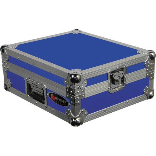 Odyssey Innovative Designs FTTXBLU Flight Style Turntable Case (Blue)