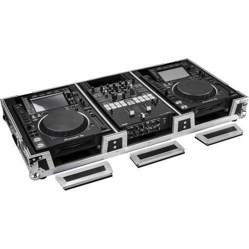 Odyssey Innovative Designs Extra Deep CD/Digital Media Player DJ Coffin with Wheels