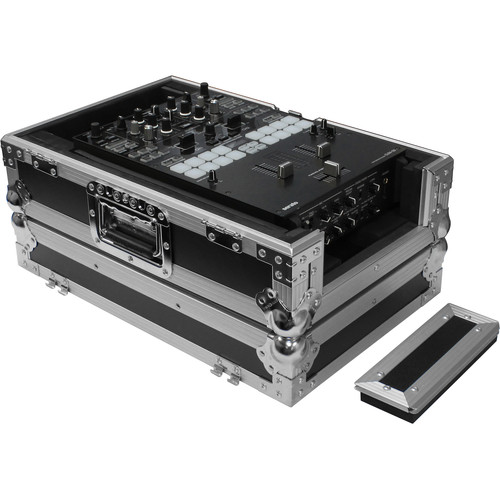 "Odyssey Innovative Designs Black Label Series Universal 10"" DJ Mixer Case with Extra Cable Space"