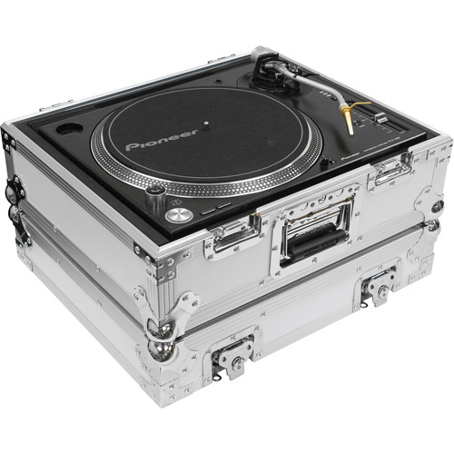 Odyssey Innovative Designs Flight Zone Universal Turntable Case for Technics-Style DJ Turntable (White)