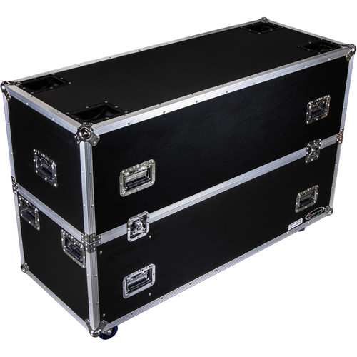 """Odyssey Innovative Designs Dual 50 to 58"""" Flat-Screen Monitor Case with Casters"""