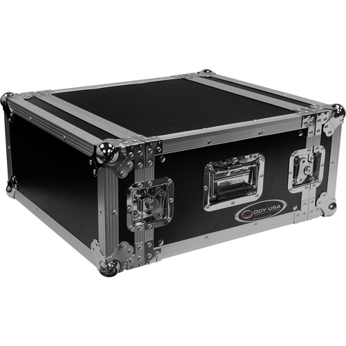 Odyssey Innovative Designs Flight Zone 5 RU Pro Amplifier Rack Case with Front and Back Rack Rails