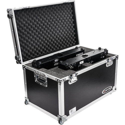 Odyssey Innovative Designs Dual Chauvet Intimidator Spot Duo 155 Case with Pullout Handle and Wheels (Black)