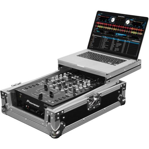 "Odyssey Innovative Designs FZGS10MX1 Flight Zone Series Low Profile Glide Style Case for a 10"" DJ Mixer"