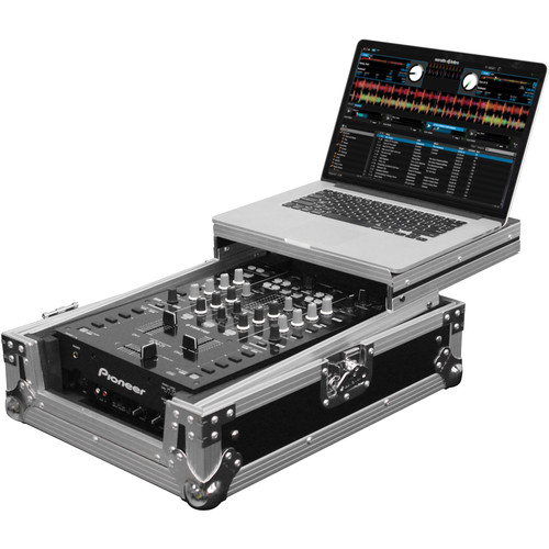 "Odyssey Innovative Designs FZGS10MX1 Flight Zone Series Low Profile Glide Style Case for a 10"" DJ Mixer"