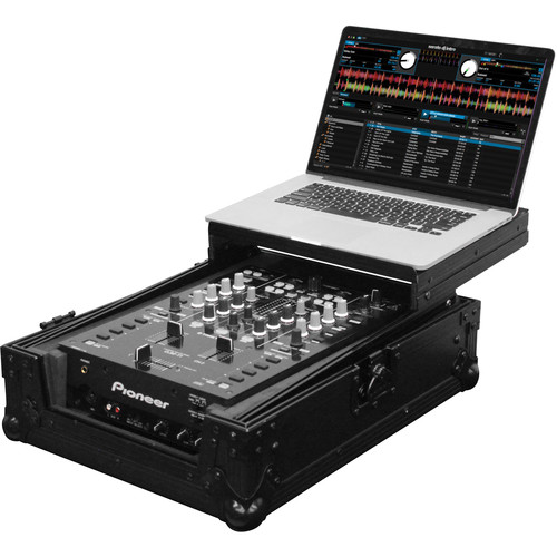 "Odyssey Innovative Designs FZGS10MX1BL Black Label Series Low Profile Glide Style Case for a 10"" DJ Mixer"