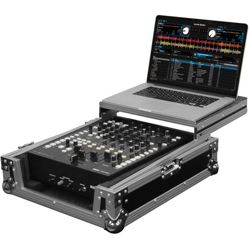 "Odyssey Innovative Designs FZGS12MX1 Flight Zone Series Low Profile Glide Style Case for a 12"" DJ Mixer"