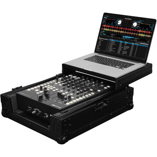 "Odyssey Innovative Designs FZGS12MX1BL Black Label Series Low Profile Glide Style Case for a 12"" DJ Mixer"