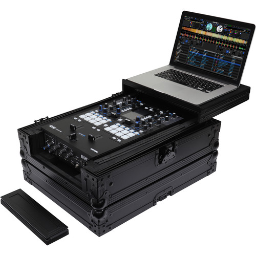 """Odyssey Innovative Designs Universal 12"""" Format DJ Mixer Case with Extra Deep Rear Cable Space (Black Label)"""