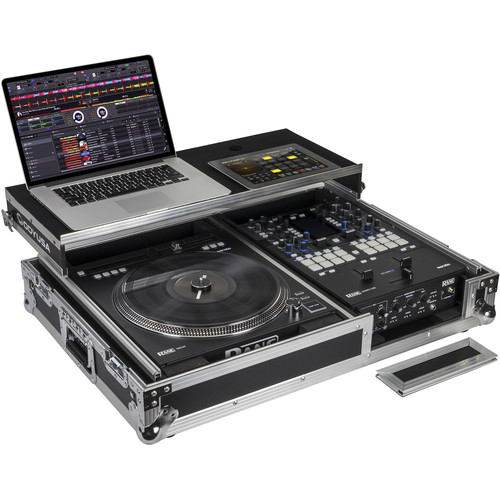 Odyssey Innovative Designs Flight Zone Glide Style DJ Coffin for Rane Seventy-Two Mixer & Twelve Controller (Silver & Chrome Hardware)