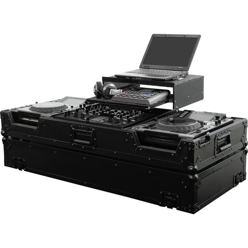 Odyssey Innovative Designs Black Label Flight Zone Glide-Style DJ Coffin Case For Pioneer DJM-2000 DJ Mixer