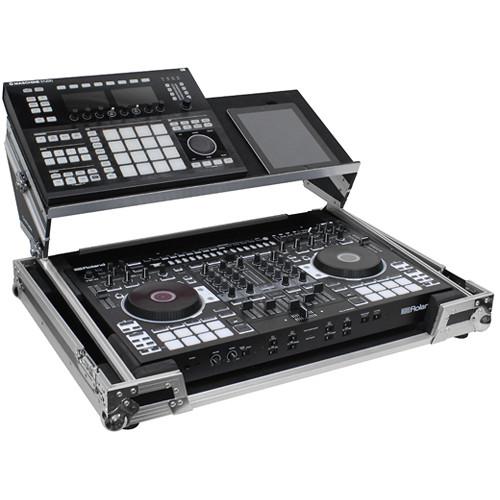 Odyssey Innovative Designs Roland DJ-808/Denon MC7000 DJ Glide Style Case with Angled Glide Platform/Pioneer DDJ-RX/SX/SX2
