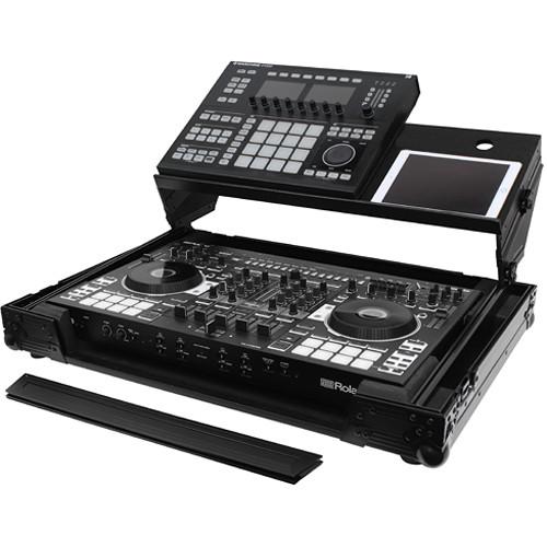 Odyssey Innovative Designs Black Label Producer Glide Style Case for Roland DJ-808 & Denon MC7000