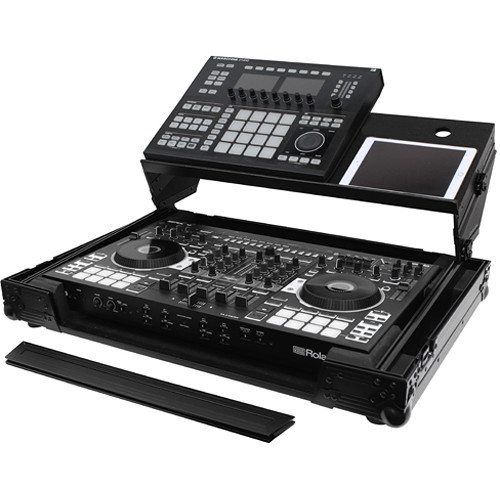 Odyssey Innovative Designs Black Label Producer Glide Style Case for Roland DJ-808 & Denon MC7000