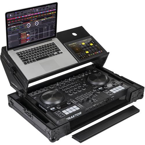 Odyssey Innovative Designs Black Label Glide Style Case for Traktor Kontrol S4 MK3 DJ Controller (Black Hardware)