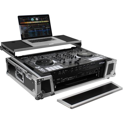 Odyssey Innovative Designs Flight Zone Glide Case with Wheels for Roland DJ-808 & Denon MC7000 V2 DJ Controllers