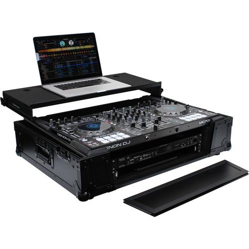 Odyssey Innovative Designs Black Label Glide Case with Wheels for Roland DJ-808 / Denon MC7000 DJ Controller