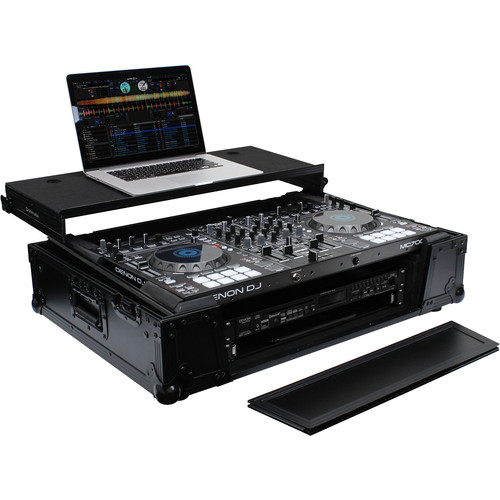 Odyssey Innovative Designs Black Label Glide Case with Wheels for Roland DJ-808 / Denon MC7000 DJ Controller