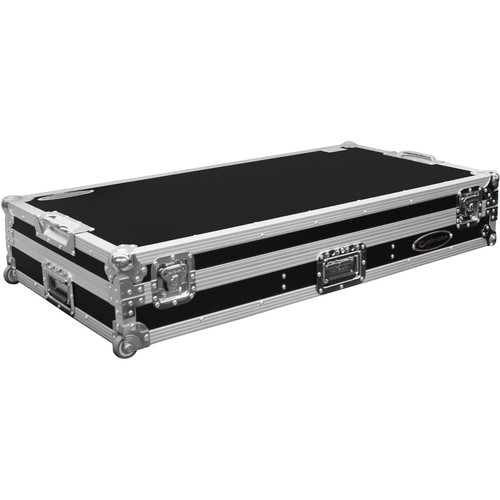 "Odyssey Innovative Designs Flight Zone Low Profile Glide-Style DJ Coffin for 10"" Mixer & Two Turntables"