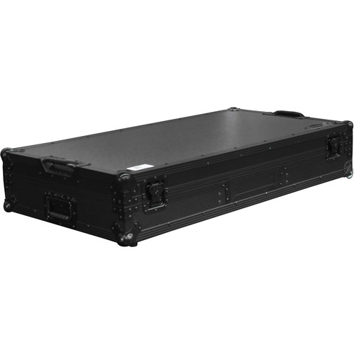 """Odyssey Innovative Designs Black-Label Glide-Style DJ Coffin for 10"""" Format Mixer & Two Turntables"""