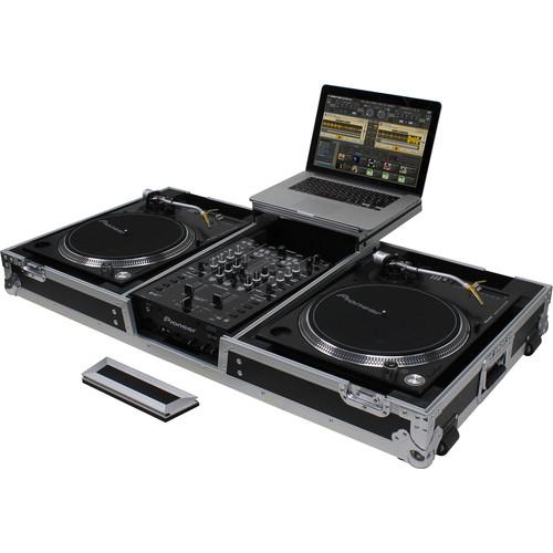 Odyssey Innovative Designs Flight Zone - Universal Turntable DJ Coffin with Wheels & Glide Shelf