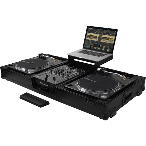 Odyssey Innovative Designs Black Label Low Profile Glide Turntable DJ Coffin with Wheels
