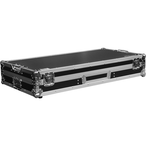"""Odyssey Innovative Designs Flight Zone Low Profile Glide-Style DJ Coffin for 12"""" Mixer & Two Turntables"""