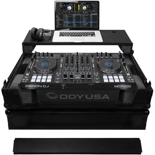"Odyssey Innovative Designs Black Label Denon MC70000 DJ Controller Glide Style Case with Lower 19"" 2U Rack Space (Black)"