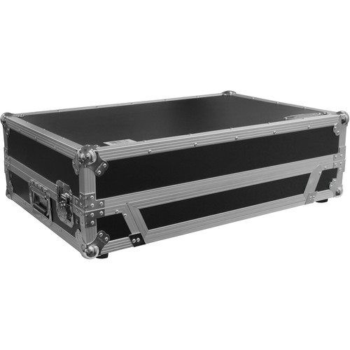 "Odyssey Innovative Designs Numark NS7/NS7II/NS7III DJ Controller Glide Style Case with Lower 19"" 1U Rack Space (Silver/Black)"