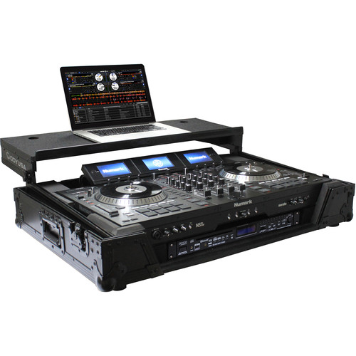 "Odyssey Innovative Designs Numark NS7/NS7II/NS7III DJ Controller Black Label Glide Style Case with Lower 19"" 1U Rack Space (Black)"