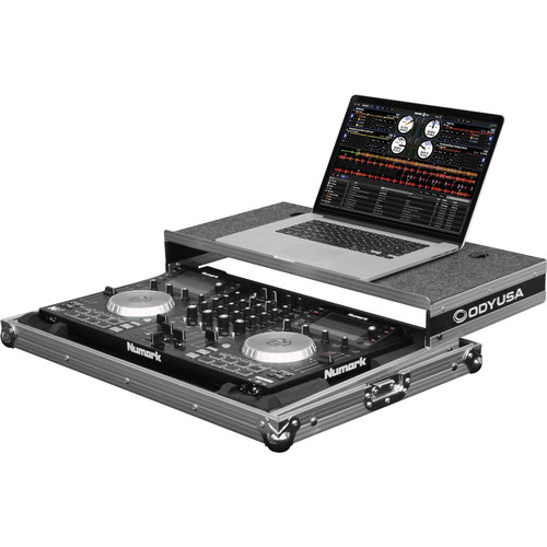 Odyssey Innovative Designs Flight Zone Low Profile Glide Style Case for Numark NV/NVII DJ Controllers (Silver)