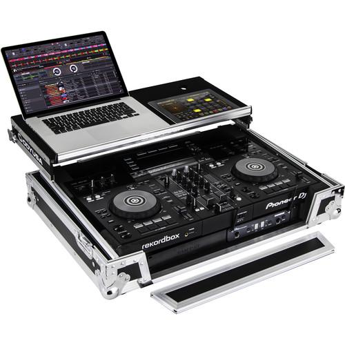 "Odyssey Innovative Designs Pioneer XDJ-RR DJ Controller Glide Style Case  with 1U 19"" Bottom Rack"