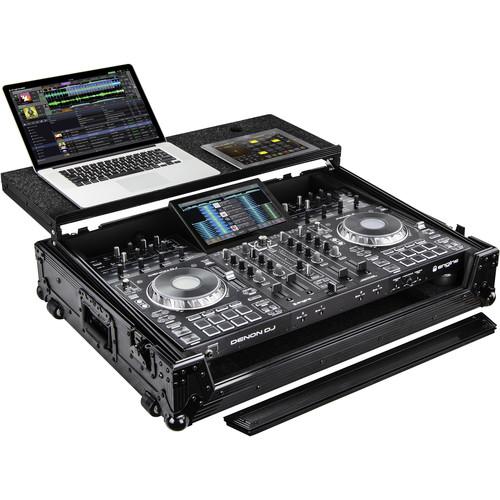 Odyssey Innovative Designs Flight Zone BLACK LABEL Glide Style Case for Denon Prime 4 DJ Controller (All Black)