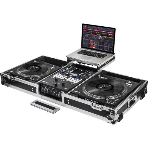 Odyssey Innovative Designs FZ DJ Coffin for a Rane Seventy-Two Mixer and 2-Rane Twelve Controllers with Wheels