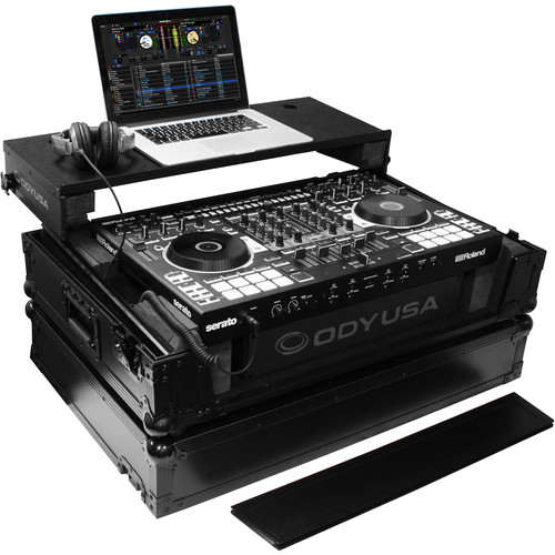 Odyssey Innovative Designs Black Label Glide Style Case for Roland DJ-808 DJ Controller