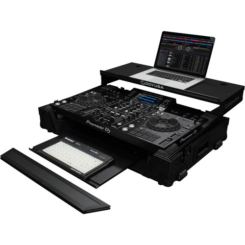Odyssey Innovative Designs Black Label Glide Style Case for Pioneer XDJ-RX2 Controller with Bottom GT Glide Tray (Black)