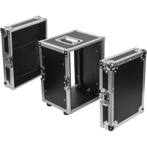 Odyssey Innovative Designs Flight Zone Series Half-Rack Flight Case (8 RU)