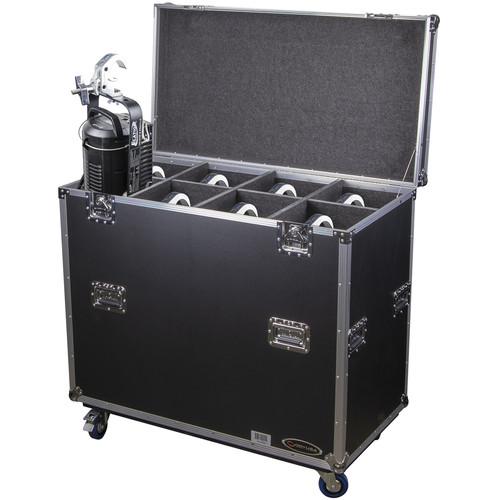 Odyssey Innovative Designs Leko Lite Lighting Fixture Case with Wheels (Black)