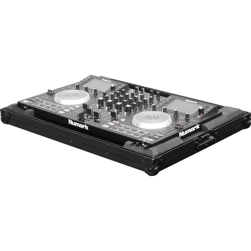 Odyssey Innovative Designs Black Label Case with Shallow Bottom Reverse Lid Design for Numark NV Serato DJ Controller