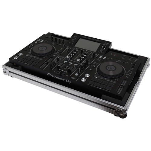 Odyssey Innovative Designs Flight Zone Low Profile Series DJ Controller Case for Pioneer XDJ-RX or XDJ-RX2 (Silver and Black)