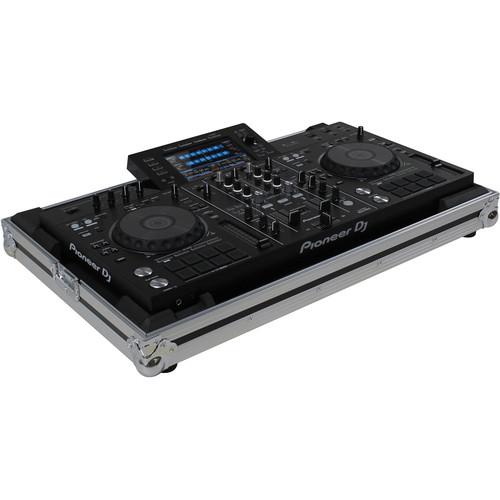 Odyssey Innovative Designs Flight Zone Low Profile Case for Pioneer XDJ-RX / XDJ-RX2 DJ Controller (Silver/Black)