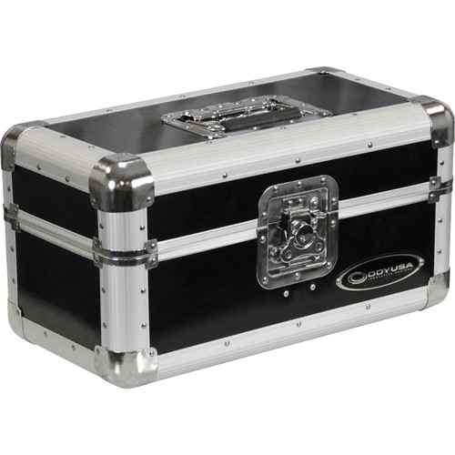 "Odyssey Innovative Designs Limited Edition Krom Record/Utility Case for 120 7"" Vinyl Records (Black)"