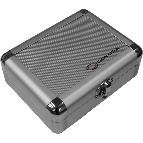 Odyssey Innovative Designs Krom PRO2 Silver Diamond Case for Two Turntable Needle Cartridges