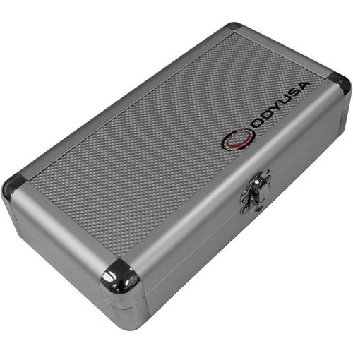 Odyssey Innovative Designs Krom Pro2 Cartridge Case - For Four Turntable Cartridges (Silver Diamond)