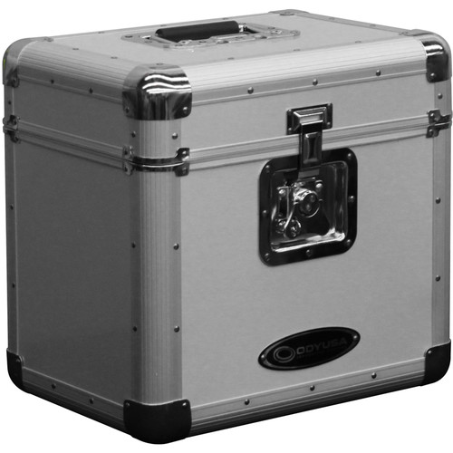 Odyssey Innovative Designs Krom Series KLP2 Stackable Record/Utility Case (Silver)