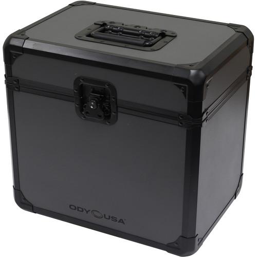 Odyssey Innovative Designs Black Krom on Gray Series Vinyl and LP/Utility Carrying Case (Black)