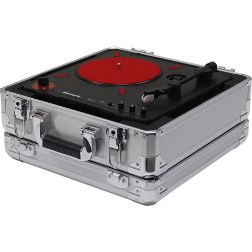 Odyssey Innovative Designs Krom Series Numark PT01 Scratch Portable Turntable Case (Silver)