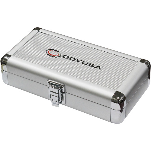 "Odyssey Innovative Designs Krom Series 7.75 x 1.5 x 3.1"" Compact Utility Accessory Case (Silver Diamond)"