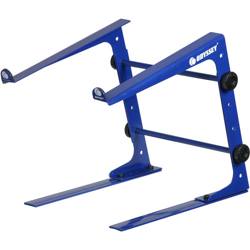 Odyssey Innovative Designs Designer DJ-Series L Stand with Clamps (Navy Blue)
